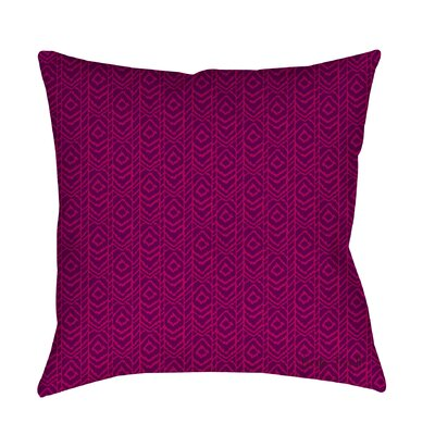 Sketched Ikat Printed Throw Pillow Size: 26 H x 26 W x 7 D, Color: Purple