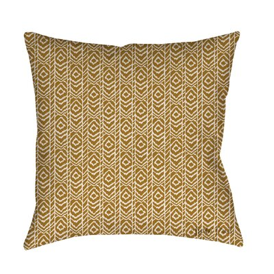 Sketched Ikat Printed Throw Pillow Size: 26 H x 26 W x 7 D, Color: White