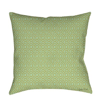 Woven Printed Throw Pillow Size: 16 H x 16 W x 4 D, Color: Green
