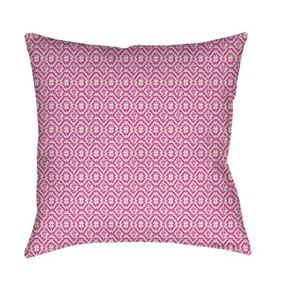 Woven Printed Throw Pillow Size: 18 H x 18 W x 5 D, Color: Purple