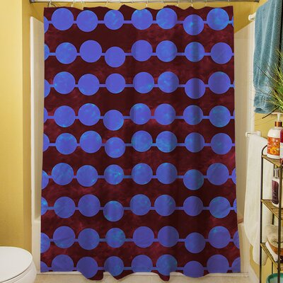 Line Dots Shower Curtain Color: Bright