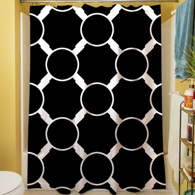 Band Shower Curtain Color: Black