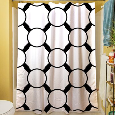 Band Shower Curtain Color: White