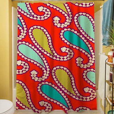 Paisley Shower Curtain Color: Mint