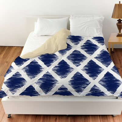 Diamonds Duvet Cover Color: Navy, Size: Twin