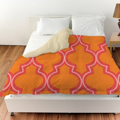 Ogee Dots Duvet Cover Size: King