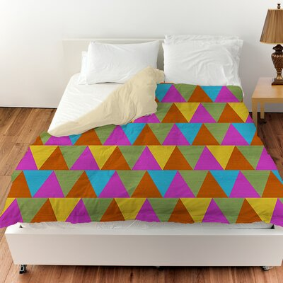 Triangles Duvet Cover Size: Queen