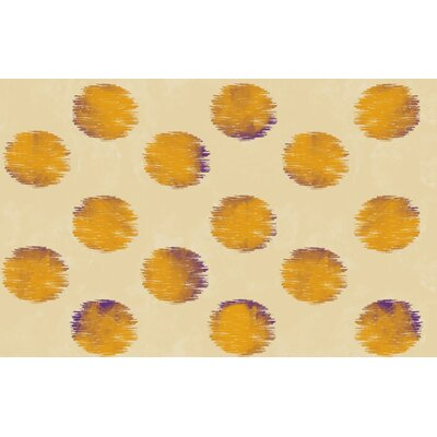 Big Dots Gold Area Rug Rug Size: 31 x 110.5