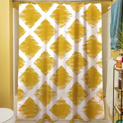 Diamonds Shower Curtain Color: Bright