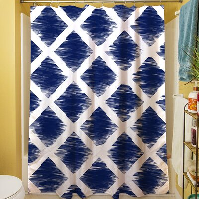 Diamonds Shower Curtain Color: Navy