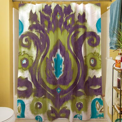 Radiant Transitions Shower Curtain Color: Green