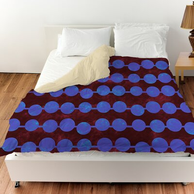 Line Dots Duvet Cover Color: Bright, Size: King