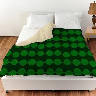 Line Dots Duvet Cover Color: Emerald, Size: Twin