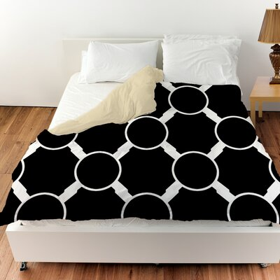 Band Duvet Cover Color: Black, Size: Queen