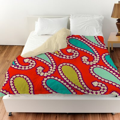 Paisley Duvet Cover Color: Mint, Size: Twin