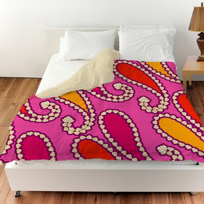 Paisley Duvet Cover Size: Queen, Color: Purple