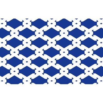 Modern Geometric Sapphire Rug Rug Size: 510 x 44