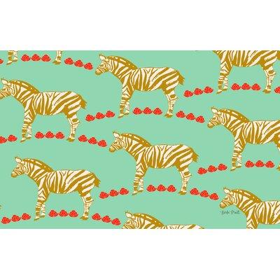 Zebra Mint Area Rug Rug Size: 510 x 44