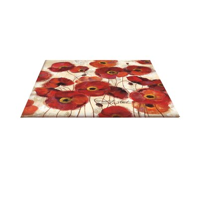 Bold Poppies Red Area Rug Rug Size: 510 x 44