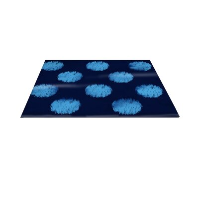 Big Dots Navy Area Rug Rug Size: 31 x 110.5