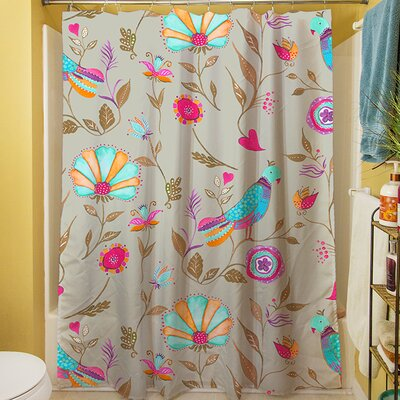 Early Bird Shower Curtain Color: Gray