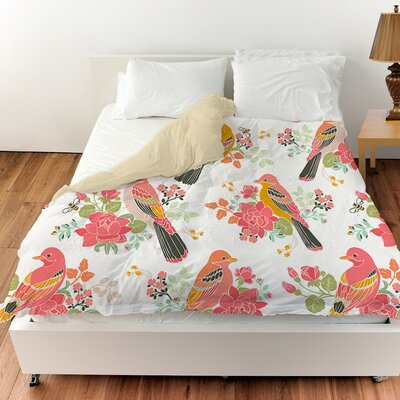 Littlest Bird Duvet Cover Size: Queen