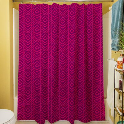 Sketched Ikat Shower Curtain Color: Purple