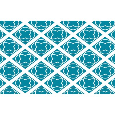 Modern Geometric Topaz Rug Rug Size: 31 x 110.5