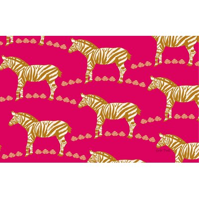 Zebra Pink Area Rug Rug Size: 510 x 44