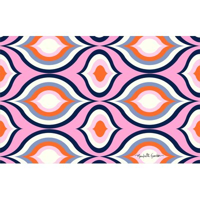 Britney Pink Geo Area Rug Rug Size: 510 x 44