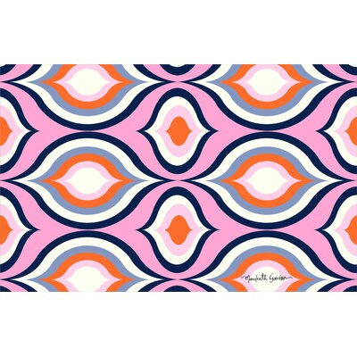 Britney Pink Geo Area Rug Rug Size: 31 x 110.5