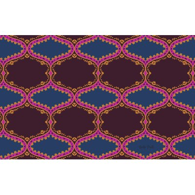 Bird Berries Folk Ogee Maroon Area Rug Rug Size: 510 x 44