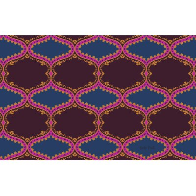 Bird Berries Folk Ogee Maroon Area Rug Rug Size: 31 x 110.5