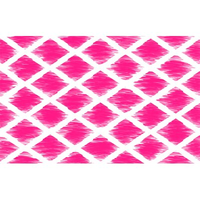 Diamonds Pink Area Rug Rug Size: 31 x 110.5