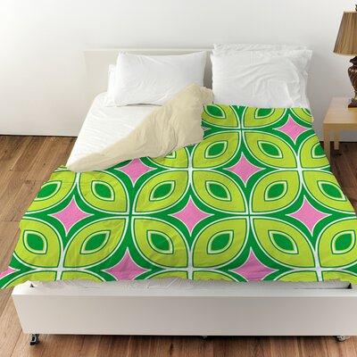 Lorraine Links Duvet Cover Color: Green, Size: Twin