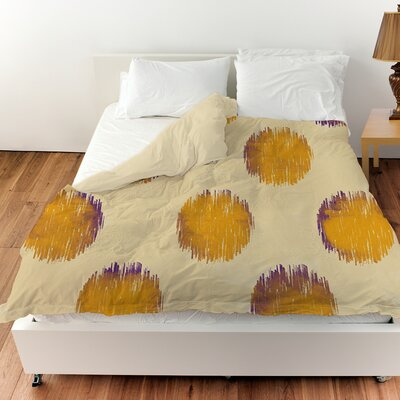 Big Dots Duvet Cover Size: King, Color: Gold