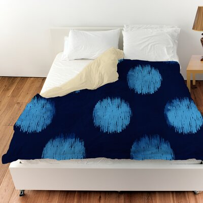 Big Dots Duvet Cover Color: Navy, Size: Twin
