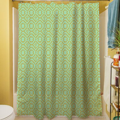 Green & Purple Shower Curtain Color: Green
