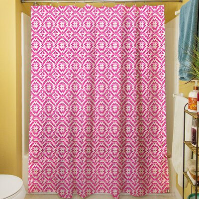 Green & Purple Shower Curtain Color: Purple