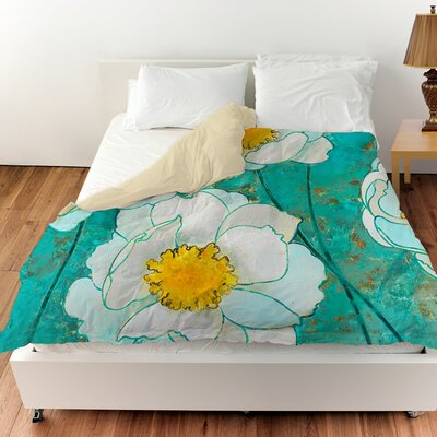 Flower Field Duvet Cover Size: King