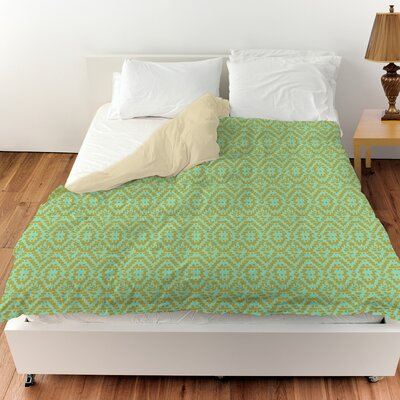Woven Duvet Cover Color: Green, Size: Twin
