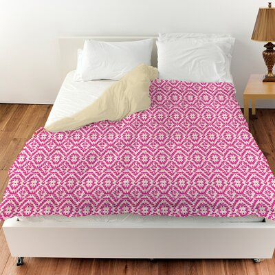 Woven Duvet Cover Size: Queen, Color: Purple