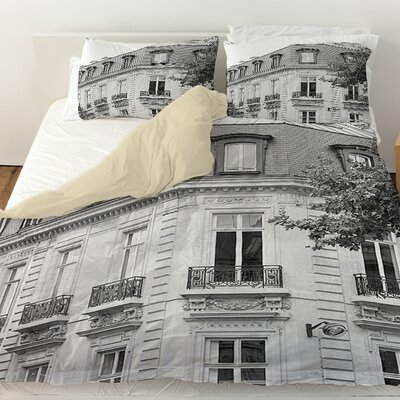 A Travers Paris II Duvet Cover Size: Twin