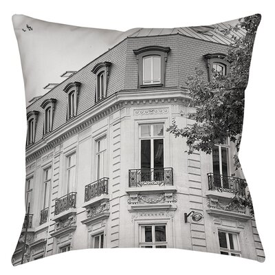 A Travers Paris II Indoor / Outdoor Throw Pillow Size: 16 H x 16 W x 4 D