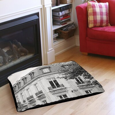 A Travers Paris II Pet Bed Size: 28 L x 18 W