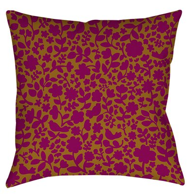 Ambrose Bird Indoor / Outdoor Throw Pillow Size: 16 H x 16 W x 4 D, Color: Fuchsia