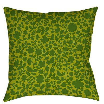 Ambrose Bird Indoor / Outdoor Throw Pillow Size: 16 H x 16 W x 4 D, Color: Green