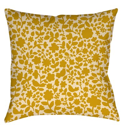 Ambrose Bird Indoor / Outdoor Throw Pillow Size: 18 H x 18 W x 5 D, Color: Yellow