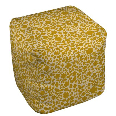 Ambrose Bird Pouf Upholstery: Yellow