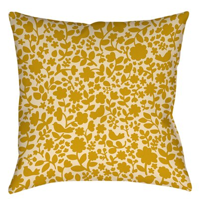 Ambrose Bird Printed Throw Pillow Size: 16 H x 16 W x 4 D, Color: Yellow